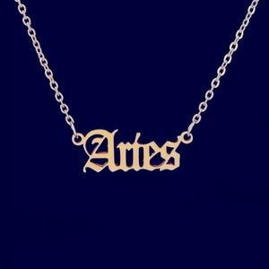 12 Astrological Letter Pendants Necklace 925